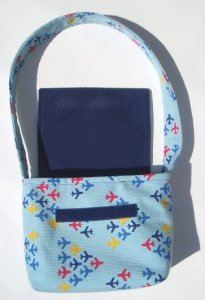 airplane print corduroy purse
