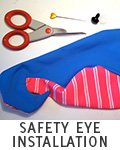 Safety Eye Installation Tutorial for Plush
