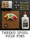 Tiny Thread Spool Pushpins Tutorial