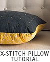 X-Stitch Throw Pillow Tutorial